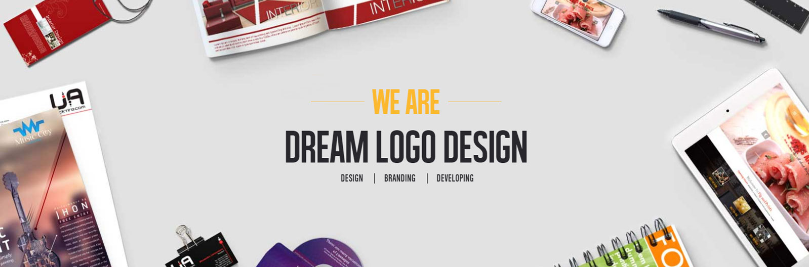 Alan Brereton 3D Logo Design – DreamLogoDesign