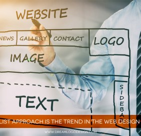 Minimalist Approach is the trend in the Web design world