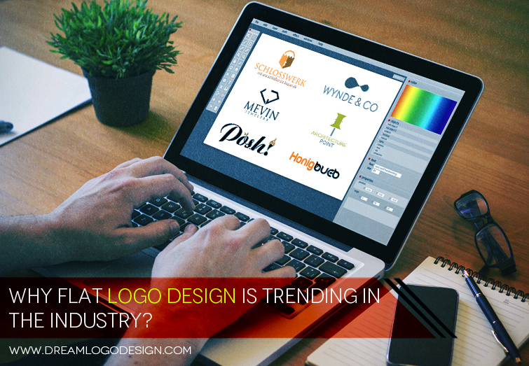 Why flat logo design is trending in the industry