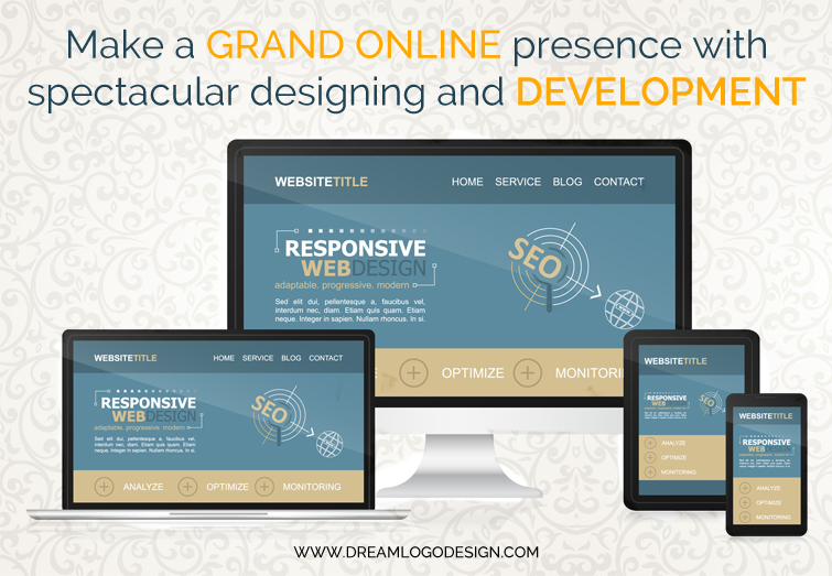 Make a grand online presence with spectacular designing and development