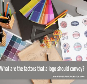 What are the factors that a logo should convey?