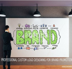 Professional Custom logo designing for brand promotion