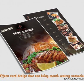 Menu card design that can bring mouth watery sensation