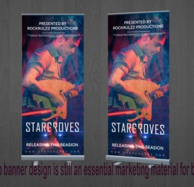 Pull-up banners design is still an essential marketing material for business