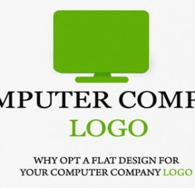 Why Opt A Flat Design For Your Computer Company Logo