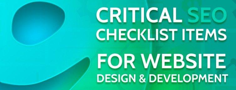9 Critical SEO Checklist Items for Website Design & Development
