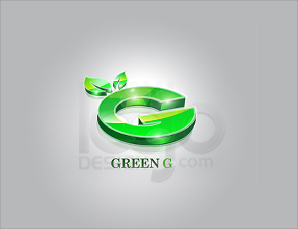 Green G 3D Logo Design - DreamLogoDesign