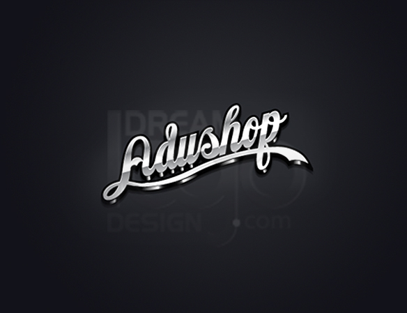 Adushop 3D Text Logo Design - DreamLogoDesign