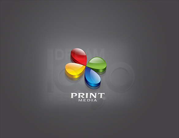 Print Media 3D Logo Design - DreamLogoDesign