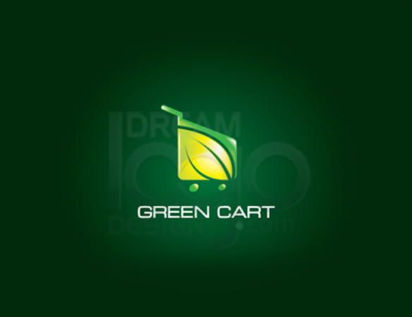 Green Cart 3D Logo Design - DreamLogoDesign