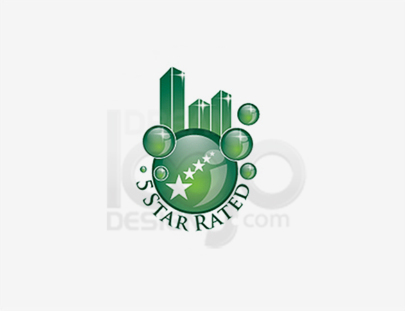 5 Star Rated Cleaning Logo Design - DreamLogoDesign