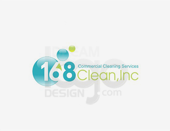 168 Commercial Cleaning Services Logo Design - DreamLogoDesign