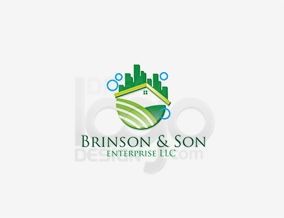 Brinson & Son Enterprise LLC Cleaning Logo Design - DreamLogoDesign