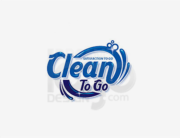 Clean To Go Cleaning Logo Design - DreamLogoDesign