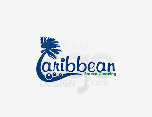 Caribbean Breeze Cleaning Logo Design - DreamLogoDesign