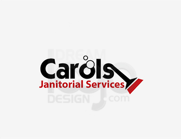 Carois Janitorial Services Cleaning Logo Design - DreamLogoDesign