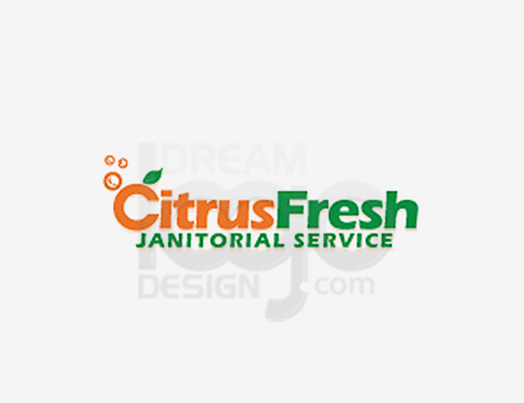 Citrus Fresh Janitorial Service Cleaning Logo Design - DreamLogoDesign