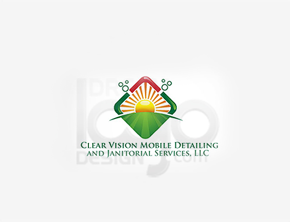 Clear Vision Mobile Detailing and Janitorial Services Cleaning Logo Design - DreamLogoDesign