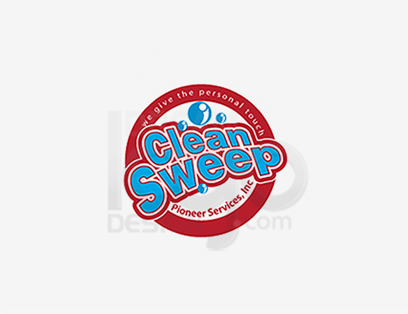 Clean Sweep Cleaning Logo Design - DreamLogoDesign