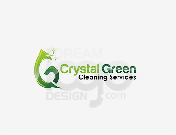 Crystal Green Cleaning Services Logo Design - DreamLogoDesign