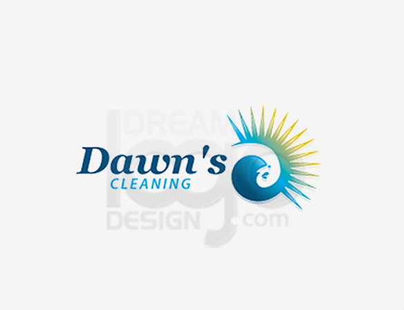 Dawn's Cleaning Logo Design - DreamLogoDesign
