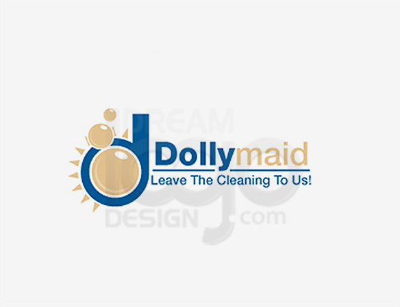 Dolly Maid Cleaning Logo Design - DreamLogoDesign