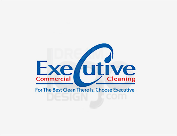 Executive Commercial Cleaning Logo Design - DreamLogoDesign