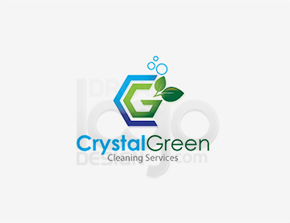 Crystal Green Cleaning Services Logo - DreamLogoDesign