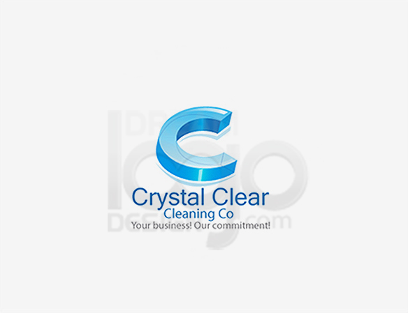 Crystal Clear Cleaning Industry Logo - DreamLogoDesign