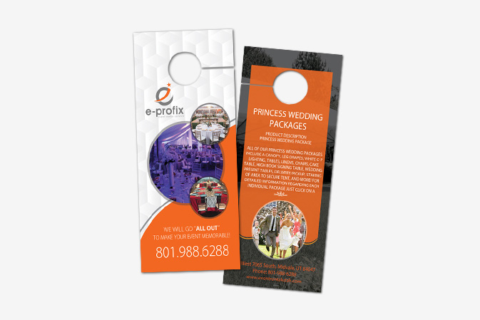Door Hanger Design Portfolio 3 - DreamLogoDesign