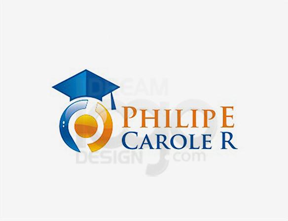 Philipe Carole R Education Logo Design - DreamLogoDesign