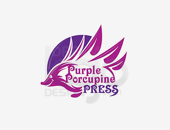 Purple Porcupine Press Education Logo Design - DreamLogoDesign