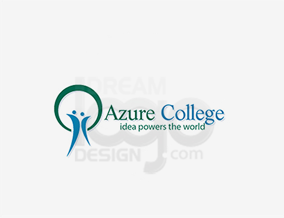 Azure College Education Industry Logo Design - DreamLogoDesign