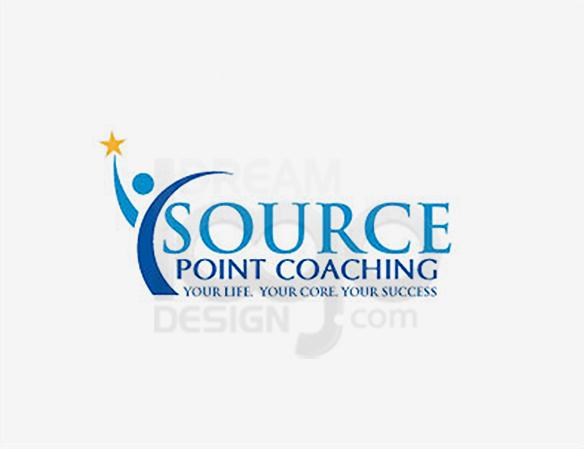 Source Point Coaching Logo Design - DreamLogoDesign