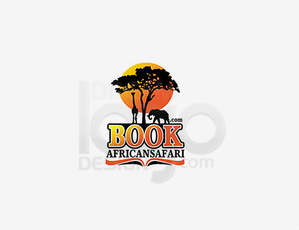 African Safari Book Logo Design - DreamLogoDesign