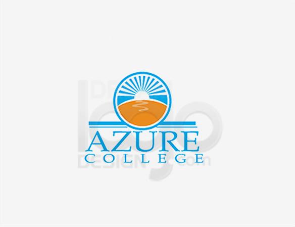 Azure College Education Logo Design - DreamLogoDesign