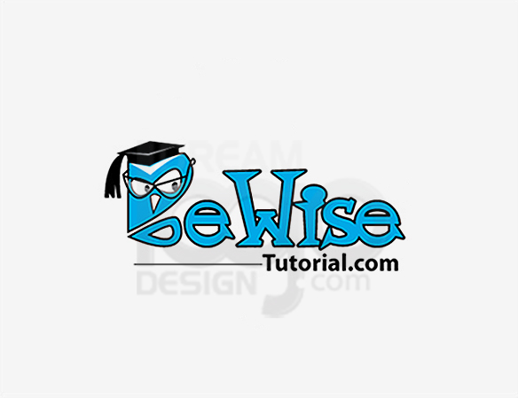 Be Wise Tutorial Education Logo Design - DreamLogoDesign
