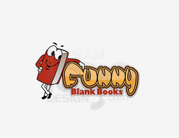 Funny Blank Books Education Logo Design