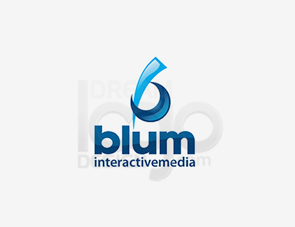 Blum Interactive Media Entertainment Logo Design - DreamLogoDesign