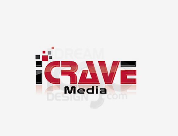 I Crave Media Entertainment Logo Design - DreamLogoDesign
