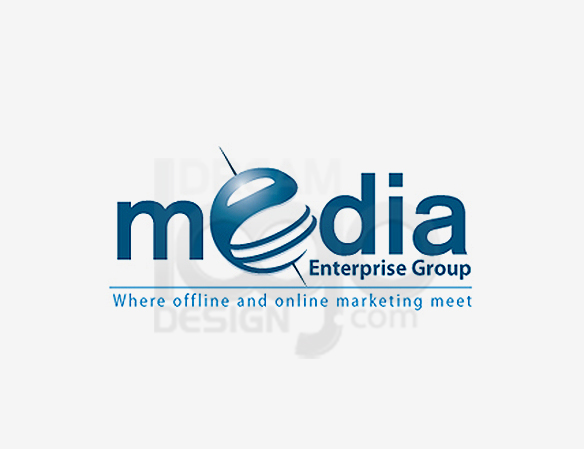 Media Enterprise Group Entertainment Logo Design - DreamLogoDesign
