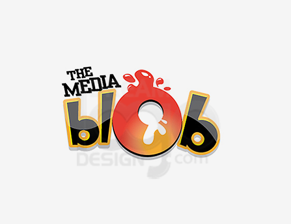 The Media Blob Entertainment Logo Design - DreamLogoDesign