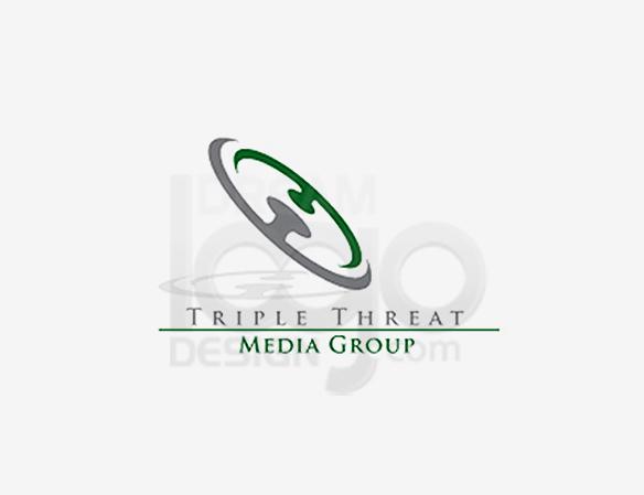 Triple Threat Media Group Entertainment Logo Design - DreamLogoDesign
