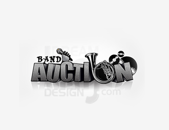 Band Auction Entertainment Logo Design - DreamLogoDesign