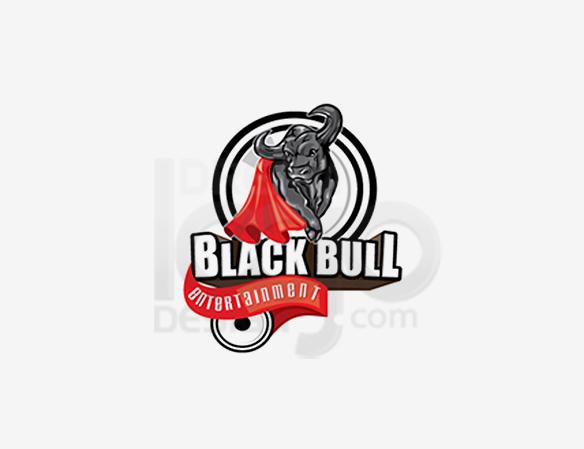 Black Bull Entertainment Logo Design - DreamLogoDesign