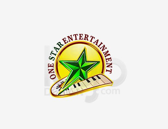 One Star Entertainment Logo Design - DreamLogoDesign