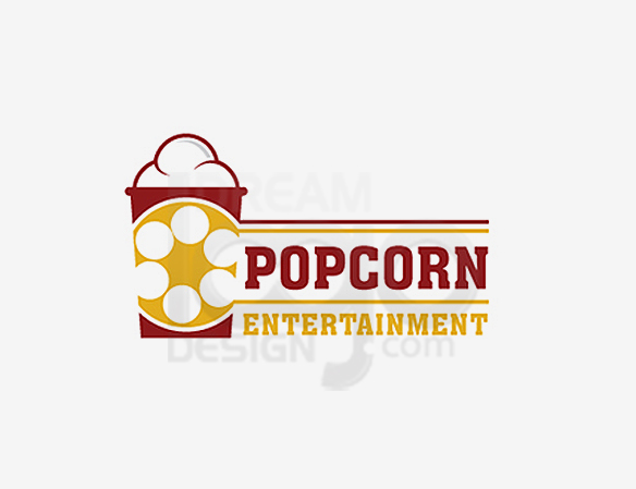 Popcorn Entertainment Logo Images Design - DreamLogoDesign