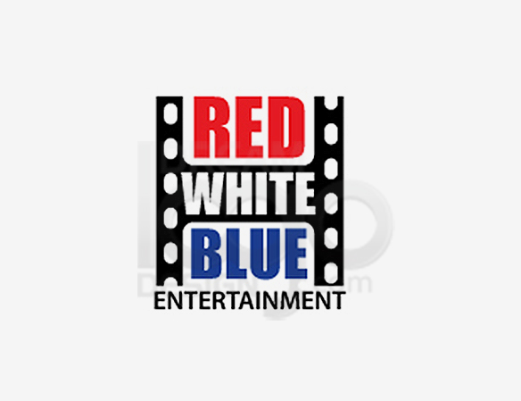 Red White Blue Entertainment Logo Design - DreamLogoDesign