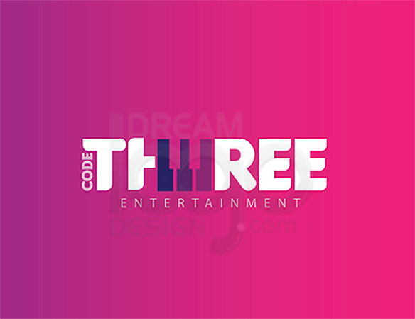 Code Three Entertainment Logo Design - DreamLogoDesign