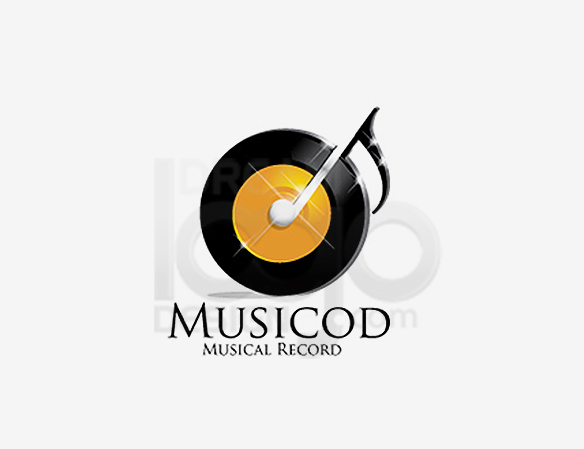 Musicod Musical Record Entertainment Logo Design - DreamLogoDesign